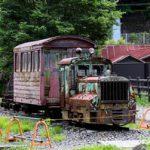 奈良井宿の木曽森林鉄道保存車