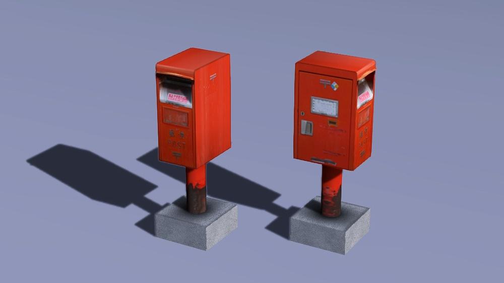 郵便ポスト(郵便差出箱1号角型)